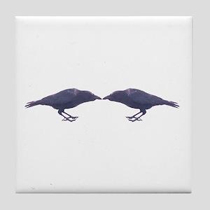 Crow Council Tile Coaster