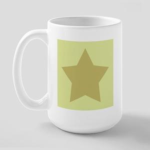 Pale Lime Green 2 Large Mug