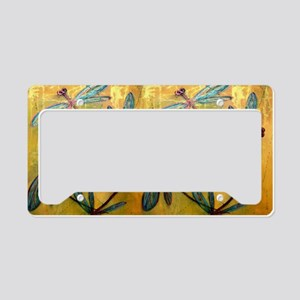 Turquoise Blue Dragonflies on License Plate Holder