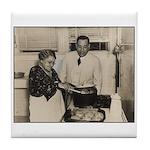 1938 Mayor Maestri & hiis Mother Tile Coaster