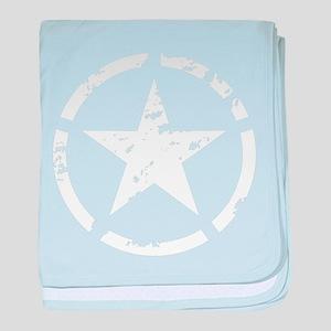 Military Star Grunge baby blanket