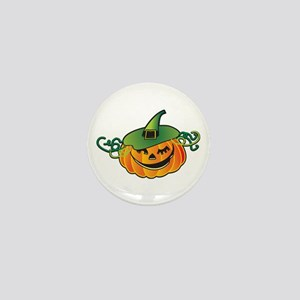 Happy Jack O' Lantern Mini Button