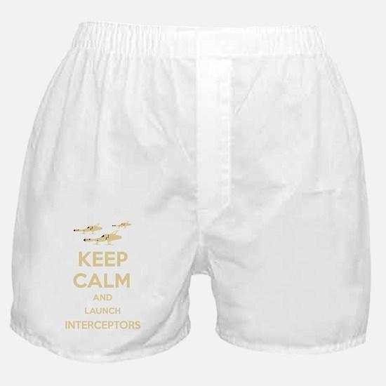 Keep Calm Interceptors UFO SHADO Boxer Shorts