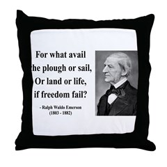 Ralph Waldo Emerson 24 Throw Pillow