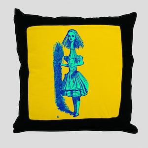 Curiouser and Curiouser! Throw Pillow