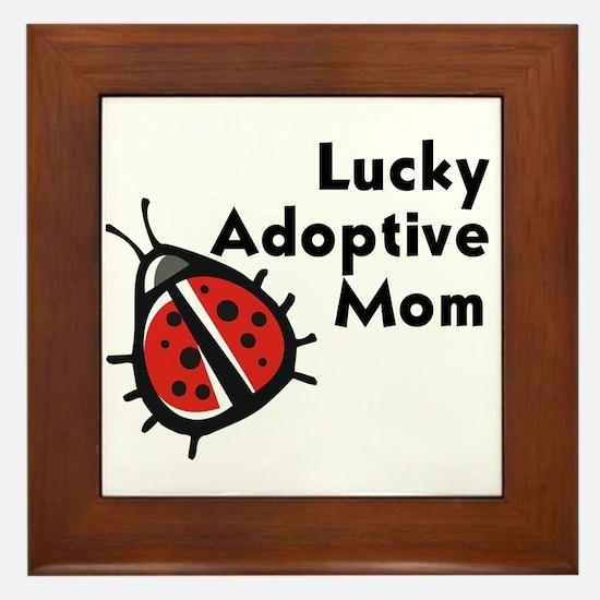 Lucky Adoptive Mom Framed Tile