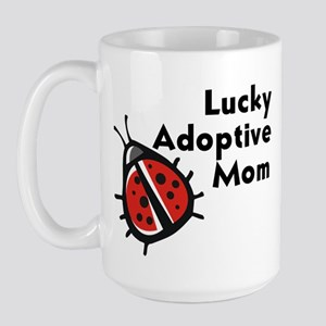 Lucky Adoptive Mom Large Mug