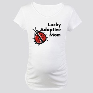 Lucky Adoptive Mom Maternity T-Shirt