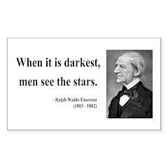 Ralph Waldo Emerson 25 Rectangle Decal