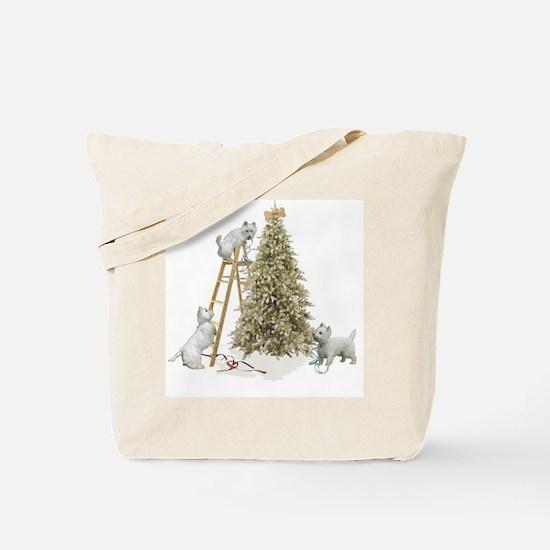 Westie Christmas Tote Bag
