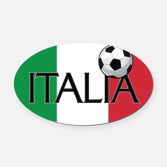 Italia Calcio / Soccer Oval Car Magnet