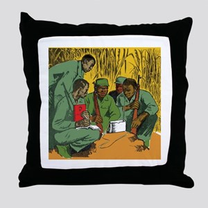 African Guerrilla Conspiracy Throw Pillow