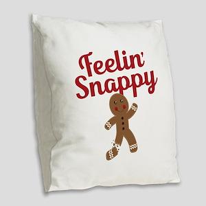 Feelin Snappy Burlap Throw Pillow