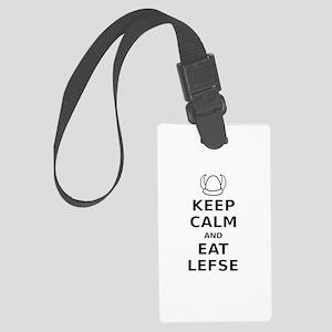 Keep Calm Eat Lefse Large Luggage Tag
