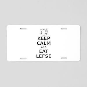 Keep Calm Eat Lefse Aluminum License Plate