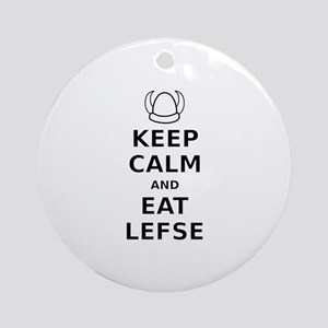 Keep Calm Eat Lefse Ornament (Round)