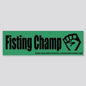 Fisting Champ - Revenge Sticker