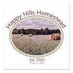 Happy Hills Homestead Logo Square Car Magnet 3