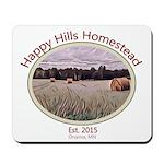 Happy Hills Homestead Logo Mousepad