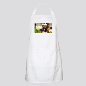 Boxer puppy in tulips Apron