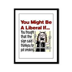 You Might Be A Liberal If You Framed Panel Print