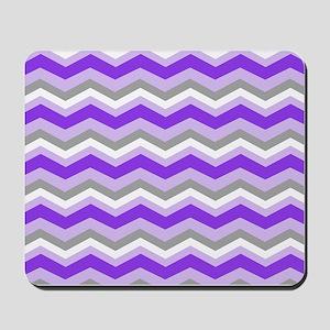 purple gray chevron Mousepad
