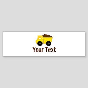 Personalizable Dump Truck Brown Bumper Sticker