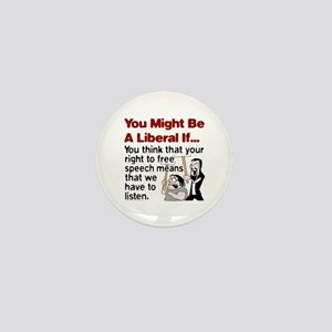 Liberal Free Speech Mini Button