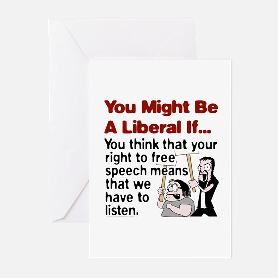 Liberal Free Speech Greeting Cards (Pk of 10)