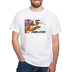 Stop Aggressors 1956 White T-Shirt