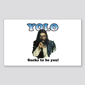 YOLO Jesus Sticker