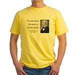 Ralph Waldo Emerson 32 Yellow T-Shirt
