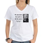 Ralph Waldo Emerson 32 Women's V-Neck T-Shirt