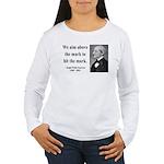 Ralph Waldo Emerson 32 Women's Long Sleeve T-Shirt