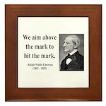 Ralph Waldo Emerson 32 Framed Tile