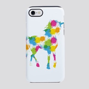 Unicorn Color Splatter iPhone 7 Tough Case