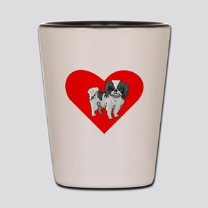 Japanese Chin Heart Shot Glass