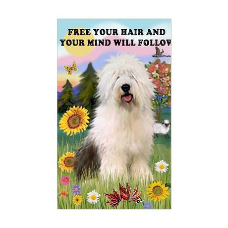 Old English Sheepdog Rectangle Sticker