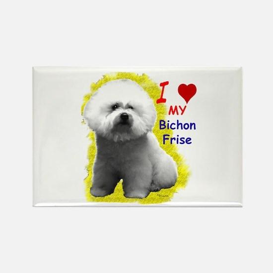 Cute My bichon frise Rectangle Magnet