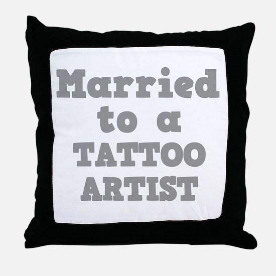 Married to a Tattoo Artist Throw Pillow