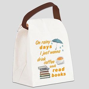 Rain Coffee Books Canvas Lunch Bag