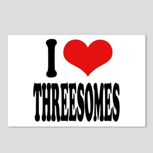 I Love Threesomes Postcards (Package of 8)