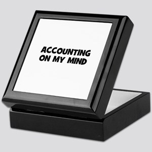 accounting On My Mind Keepsake Box