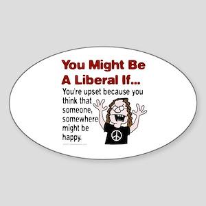 Unhappy Liberals Oval Sticker