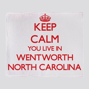 Keep calm you live in Wentworth Nort Throw Blanket