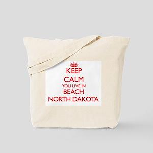 Keep calm you live in Beach North Dakota Tote Bag