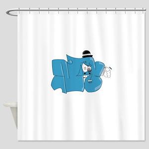 Mr Throwie Shower Curtain