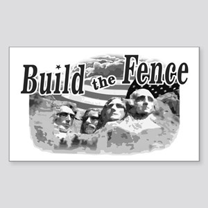 Build The Fence Rectangle Sticker