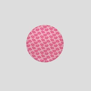 Girly Pink Lips Mini Button