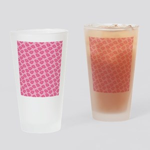 Girly Pink Lips Drinking Glass